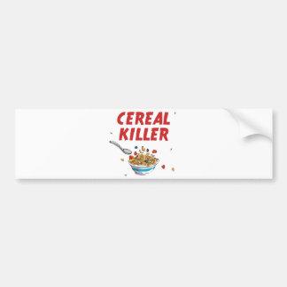 Breakfast Cereal Killer Car Bumper Sticker