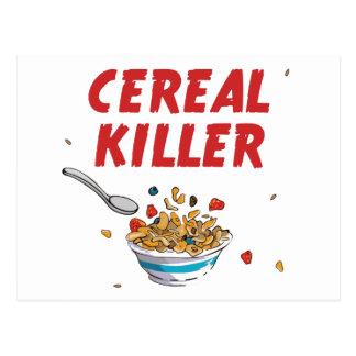 Breakfast Cereal Killer Postcard
