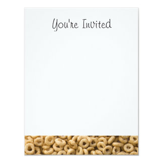 Breakfast Cereal rings 4.25x5.5 Paper Invitation Card