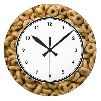 Breakfast Cereal rings Large Clock