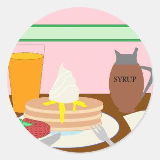 Breakfast Classic Round Sticker
