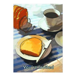 Breakfast Coffee Toast Custom Invitations