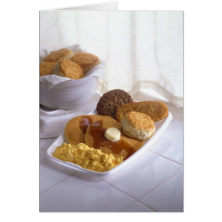 Breakfast combo greeting cards