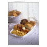 Breakfast combo greeting card