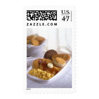 Breakfast combo postage stamp