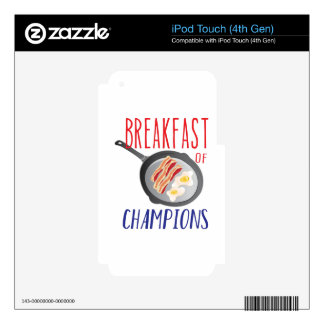 Breakfast Decal For iPod Touch 4G