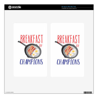 Breakfast Decals For Kindle Fire