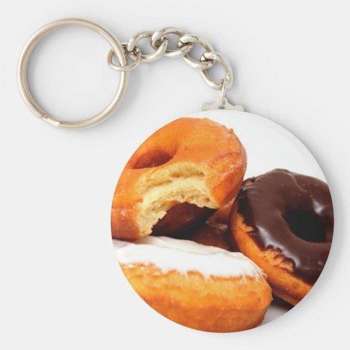 Breakfast Doughnut Basic Round Button Keychain