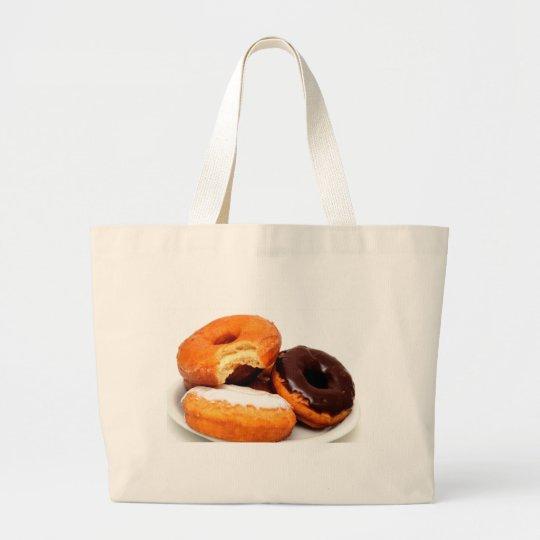 Breakfast Doughnut Large Tote Bag