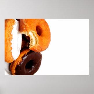 Breakfast Doughnut Poster
