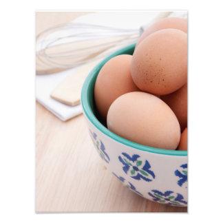 Breakfast eggs 4 photo print
