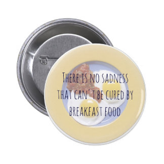 Breakfast Food Eggs on Plate Funny Motivational Pinback Button
