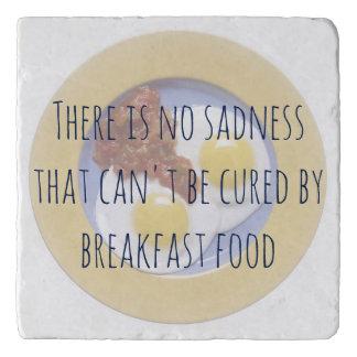 Breakfast Food Eggs on Plate Funny Motivational Trivet