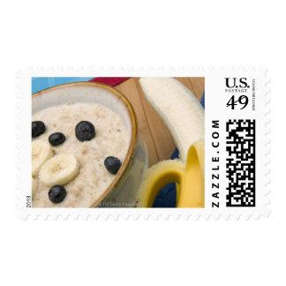Breakfast food postage stamp