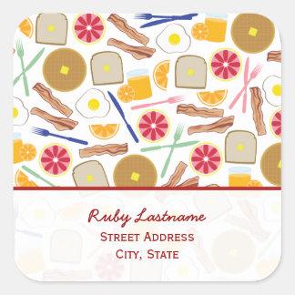 Breakfast Foods Address Sticker