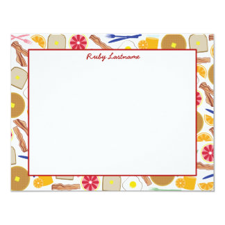 Breakfast Foods Flat Notecards