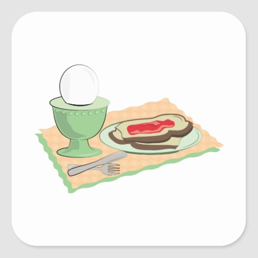 Breakfast Foods Square Stickers