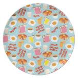 Breakfast Fun Brunch Party Plate