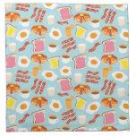 Breakfast Fun Pattern (As seen in HGTV Magazine) Cloth Napkins