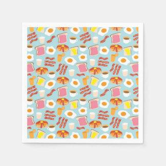 Breakfast Fun Pattern (As seen in HGTV Magazine) Disposable Napkins