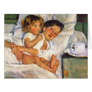 Breakfast in Bed 1897 Card