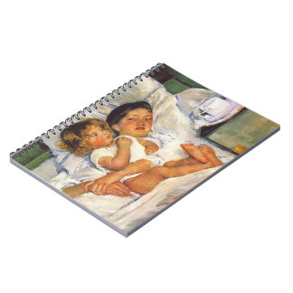 Breakfast in Bed 1897 Spiral Notebook