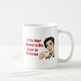 breakfast in bed classic white coffee mug
