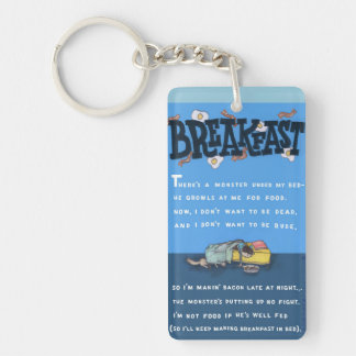Breakfast In Bed (Illustrated Keychain) Keychain