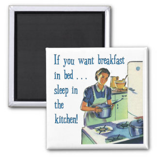 Breakfast in Bed Magnet