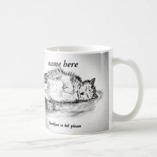 Breakfast In Bed Please, sleepy cat mug