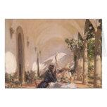 Breakfast in Loggia by Sargent, Vintage Victorian Cards