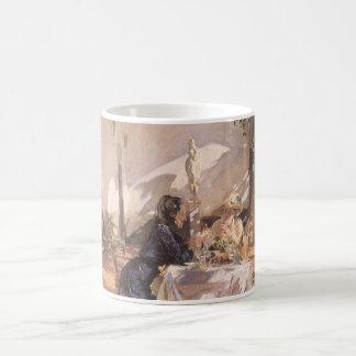 Breakfast in Loggia by Sargent, Vintage Victorian Coffee Mug