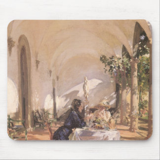 Breakfast in Loggia by Sargent, Vintage Victorian Mouse Pad