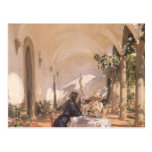 Breakfast in Loggia by Sargent, Vintage Victorian Postcard