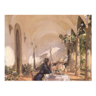 Breakfast in Loggia by Sargent, Vintage Victorian Post Cards