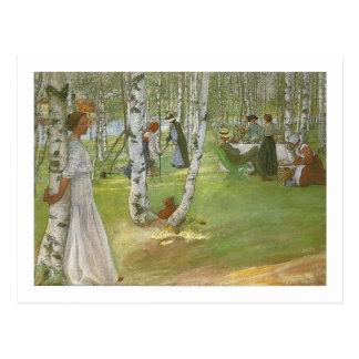 Breakfast in the Open by Carl Larsson Postcard