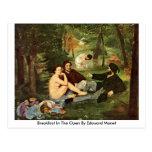 Breakfast In The Open By Edouard Manet Postcard