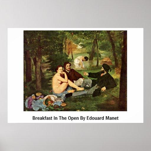 Breakfast In The Open By Edouard Manet Print
