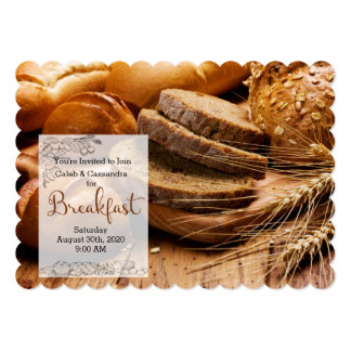 Breakfast Invitation - Fresh Baked Breads