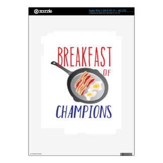 Breakfast iPad 3 Skins