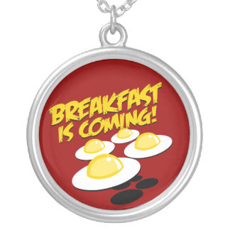 Breakfast Is Coming! Round Pendant Necklace
