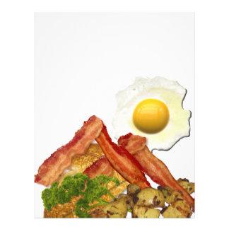 Breakfast Landscape Bacon Eggs Letterhead