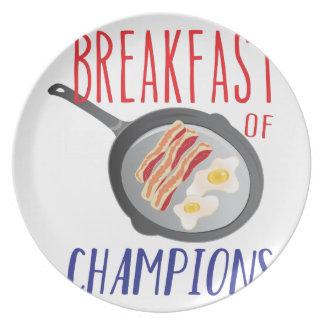 Breakfast Melamine Plate