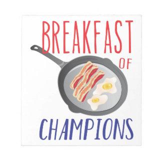 Breakfast Notepad