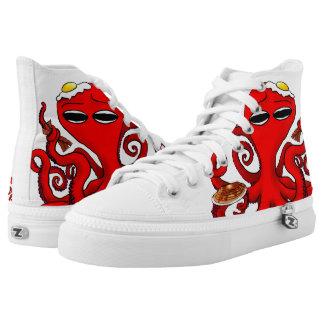 Breakfast Octopus #2 High-Top Sneakers
