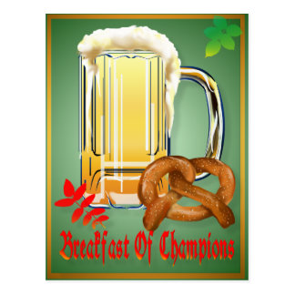 Breakfast of Champions-Happy Oktoberfest  Postcard