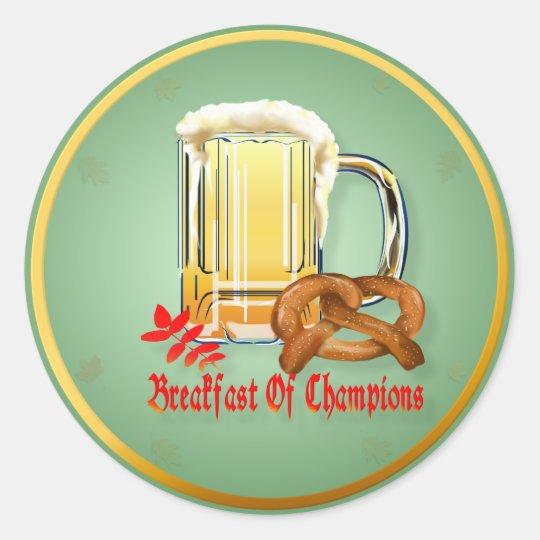 Breakfast of Champions-Happy Oktoberfest Stickers
