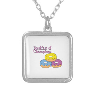 Breakfast Of Champions Personalized Necklace