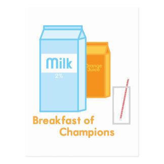 Breakfast of Champions Postcard
