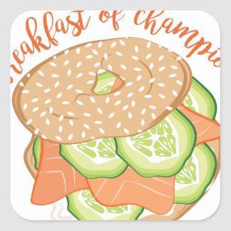 Breakfast Of Champions Square Sticker